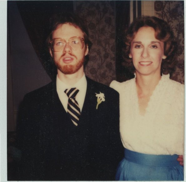 Linda and Roger at the wedding, 1983